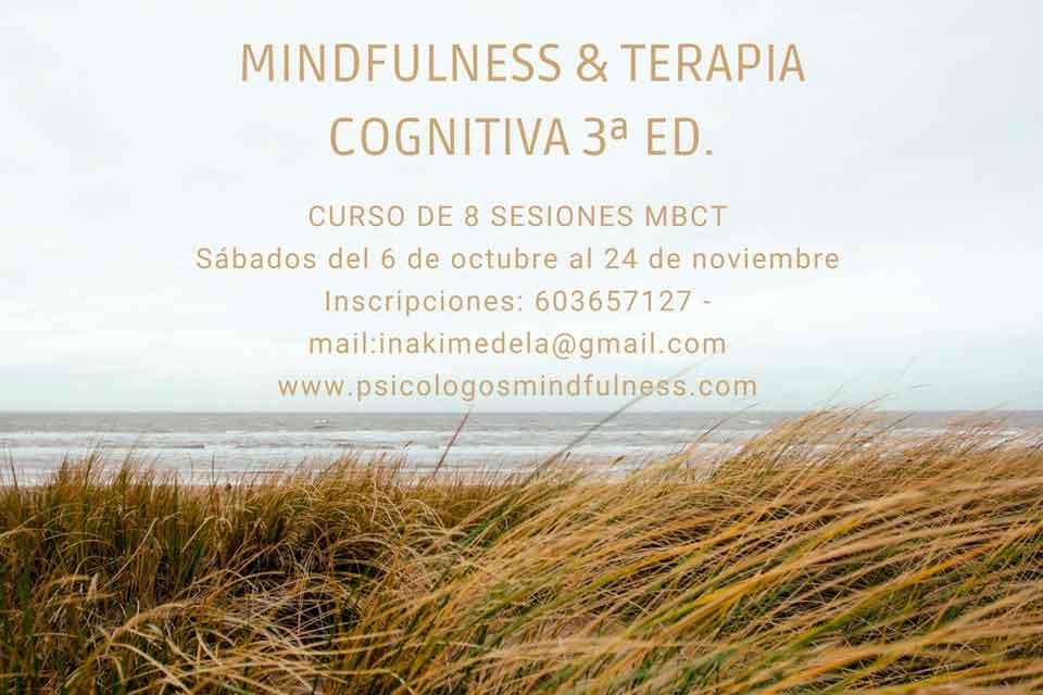 Mindfulness MBCT Bilbao -Sábados Octubre – (3ª Edición)