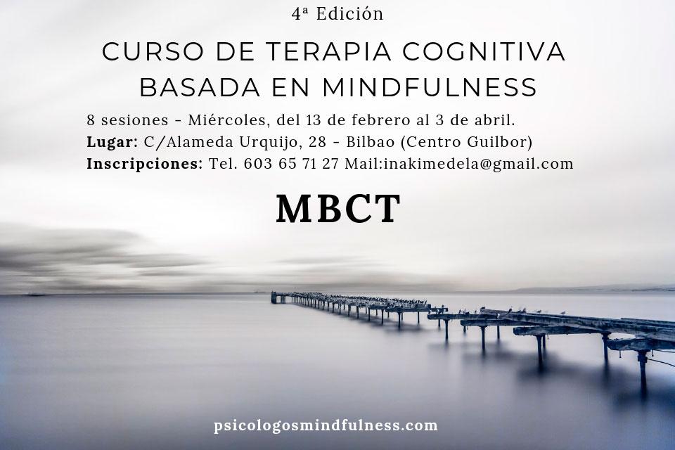 Curso Mindfulness MBCT y Terapia Cognitiva en Bilbao, 4ª ed.