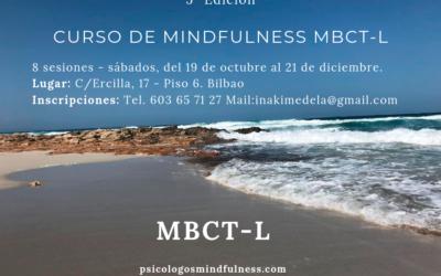 Curso MBCT 8 semanas en Bilbao – 5ed.